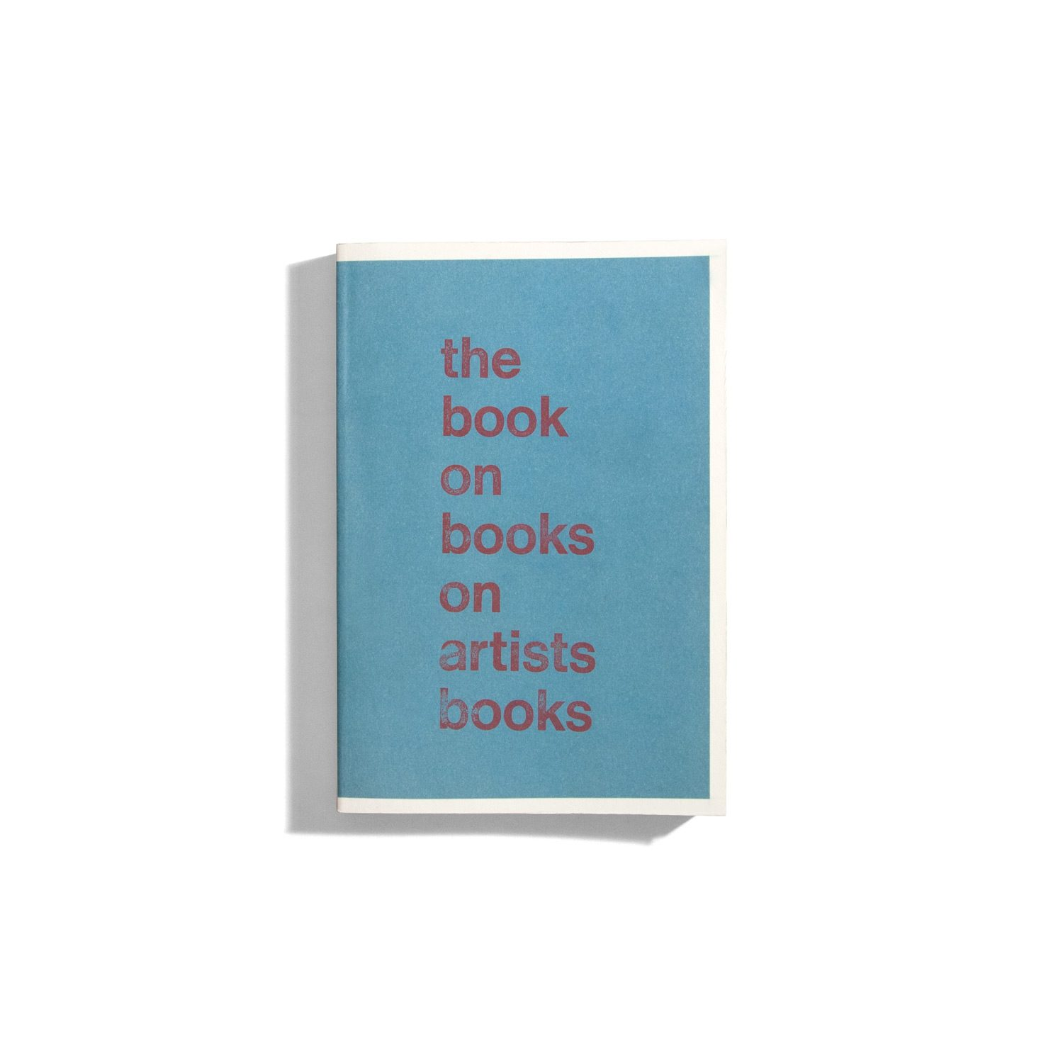 the Book on Books on artists Books