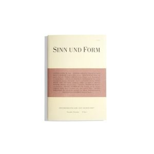 Sinn und Form Nov./Dec.. 2019