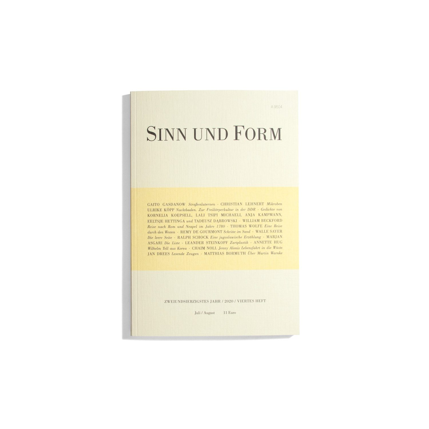 Sinn und Form July/August 2020