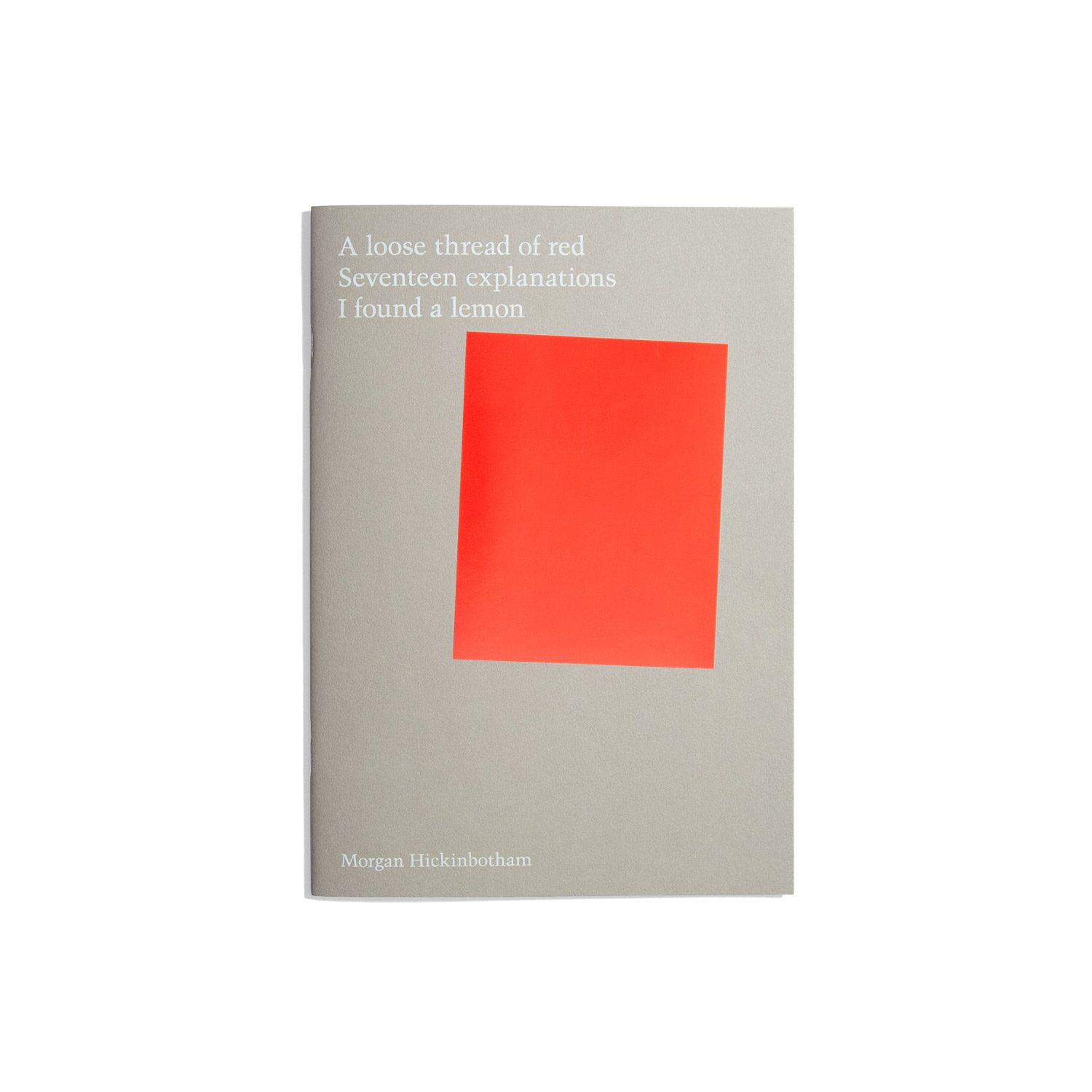 A loose thread of red - Morgan Hickinbotham